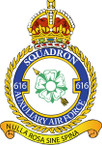 STICKER British Crest - RAF - 616 Squadron