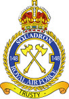STICKER British Crest - RAF - 148 Squadron