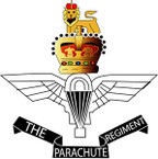 STICKER British Crest - Parachute Regiment Badge