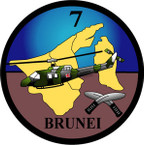 STICKER British Crest - 7th Flight - Army Air Corps - Brunei