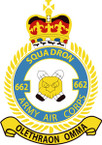 STICKER British Crest - 662 SQN - Army Air Corps (AAC)