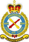 STICKER British Crest - 654 SQN - Army Air Corps (AAC)