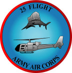 STICKER British Crest - 25th Flight - Army Air Corps - 1