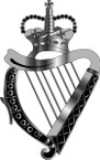 STICKER British Collar Badge - The London Irish Rifles