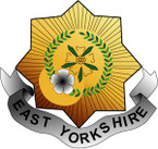 STICKER British Collar Badge - The East Yorkshire Regiment (15th)