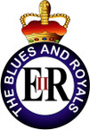 STICKER British Collar Badge - The Blues and Royals - 1969