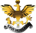 STICKER British Collar Badge - The 26th Hussars