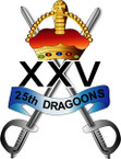 STICKER British Collar Badge - The 25th Dragoons