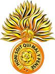 STICKER British Cap Badge - Great Britain - Royal Fusiliers
