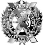 STICKER British Cap Badge - Great Britain - London Scottish