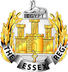 STICKER British Cap Badge - Essex Regiment