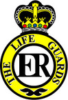 STICKER British Cap Badge - Armoured Regiment Badge - The Life Guards - 1922 - 1