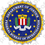 STICKER ALL UNITED STATES FBI