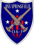 STICKER USN US NAVY CLG-7 USS SPRINGFIELD