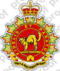 Canadian Forces The Ontario Regiment Regimental Badge Sticker