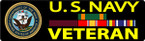 BUMPER STICKER US NAVY CUSTOM A VETERAN