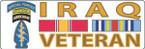BUMPER STICKER US ARMY SPECIAL FORCE AIRBORNE  IRAQ VET