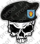 STICKER US ARMY BERET UNIT   1ST INFANTRY DIV SKULL