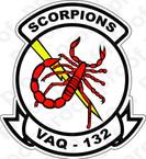 STICKER USN VAQ 132 Scorpions