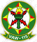 STICKER USN VAW 115 Liberty Bells