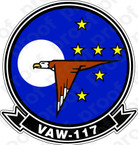 STICKER USN VAW 117 Wallbangers