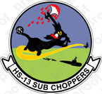 STICKER USN HS 13 SUB CHOPPERS
