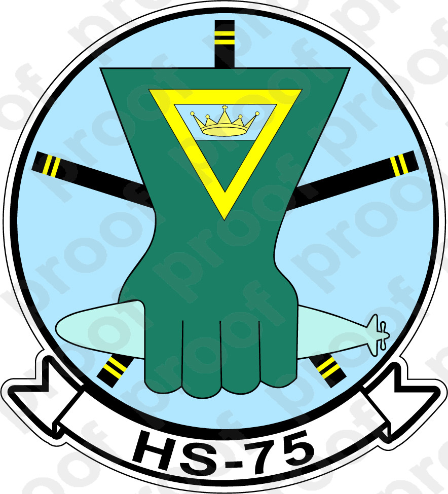 STICKER USN HS 772 Helicopter AntiSubmarine Squadron