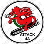 STICKER USN VA 4A Dragons