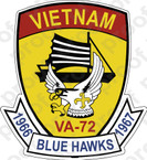 STICKER USN VA 72 Blue Hawks