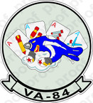 STICKER USN VA 84 Four Aces