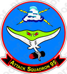 STICKER USN VA 95 Attack Squadron