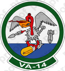 STICKER USN VA 14 Dauntless