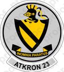 STICKER USN VA 23 Black Knights