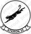 STICKER USN VA 35 Black Panthers