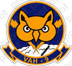 STICKER USN VAH 9 Hoot Owls
