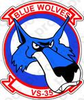 STICKER USN VS 35 Blue Wolves