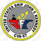STICKER USN CVA 67 USS JOHN F KENNEDY B