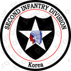 STICKER US ARMY UNIT  2nd Infantry Division Korea
