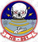 STICKER USN HS 861 HELANTISUBRON