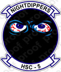 STICKER USN HSC  5 Nightdippers