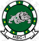 STICKER USN HSC  7 Dusty Dogs