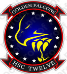 STICKER USN HSC 12 Golden Falcons
