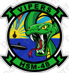 STICKER USN HSM 48 Vipers