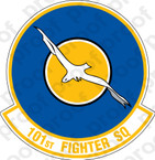 STICKER USAF 101st Fighter Squadron B