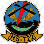 STICKER USNR HS 722 HELASRON