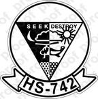 STICKER USNR HS 742 HELASRON