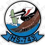 STICKER USNR HS 743 HELASRON