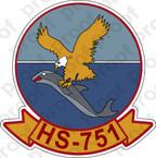 STICKER USNR HS 751 HELASRON