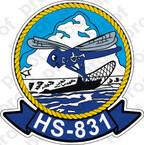 STICKER USNR HS 831 HELASRON