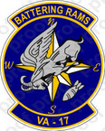 STICKER USN VA 17 BATTERING RAMS